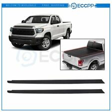 2pcs For 14-20 Toyota Tundra 6.5' Truck Tailgate Bed Rail Cap Side Trim Panel