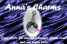 Zinzi style Be charmed hanger 18mm rond met uw eigen foto