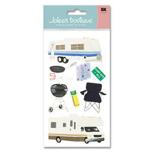 RV Campers Trailer Camping Grill Camp Site Map Jolee's 3D Stickers