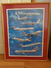 """Framed """"30 Years Of TWA Aircraft"""" Signed By Ron Sandberg No. 22 Lithograph Print"""