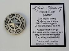 e LIFE IS A JOURNEY POCKET TOKEN charm symbol compass traveler rehab missionary