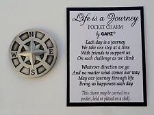u LIFE IS A JOURNEY POCKET TOKEN charm symbol compass traveler rehab missionary