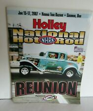 2007 NHRA Holley Hot Rod Reunion Program Beech Bend Raceway Bowling Grn Kentucky
