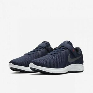 Nike Revolution 4 Flyease (4E) Running Shoes Navy/Cool Grey AA1730 400 Size 15US