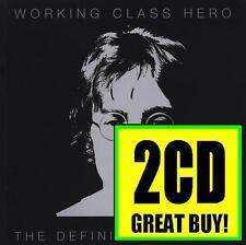 JOHN LENNON (2 CD) WORKING CLASS HERO : THE DEFINITIVE ( BEATLES ) 70's *NEW*