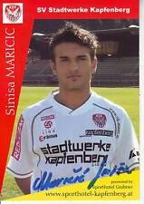 FOOTBALL carte joueur SINISA MARICIC équipe SV STADTWERKE KAPFENBERG signée