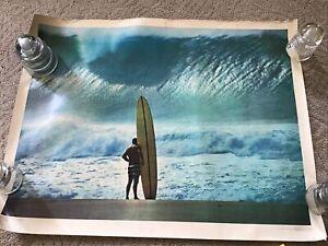 VINTAGE 1965 SURFERS SURF 23x30 POSTER JOHN SEVERSON   HAWAII PIPELINE GREG NOLL