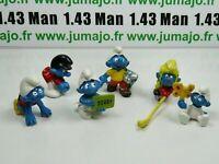 LOT7 Figurine PVC schleich : 6 SCHTROUMPF smurf puffi pituffo