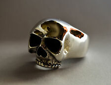"""Keith Richards"" Huge Solid 925 Sterling Silver Skull Ring W (US 11) 25g 0.9oz"
