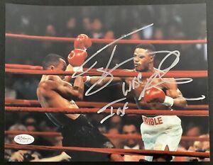 Terry Norris Signed Photo 8x10 Autograph Boxing vs Sugar Ray Leonard WBC IBF JSA