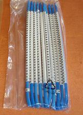 """Kabelmarkierer 10 Stäbe blau mit Nr """" 6 """" Drahtmarkierer zum Aufschnappen 4062"""