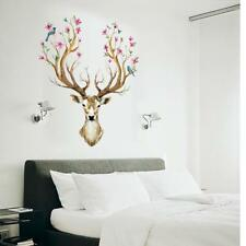 Deer Head Wall Stickers Animal Decal Art Mural Kids Nursery Room Decor T