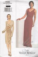 Pattern Vogue Sewing Woman Dress Day Evening Long Short  Sz 6-10 NEW OOP