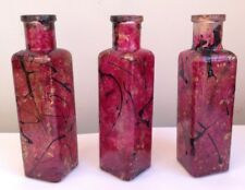 Glass Painted Vintage Glass Bottles