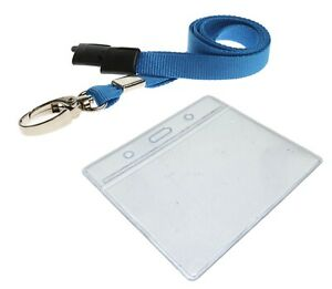 Best Price ID Card Holder Badge Pouch Pocket Clear Pouches and Safety Lanyards
