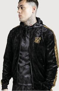 SikSilk Mens x Dani Alves Velour Bomber Jacket - BLACK (Sizes - M) **New