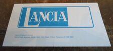 LANCIA RANGE orig 1976 UK Mkt Price List Brochure - Beta Sedan Coupe Spider HPE
