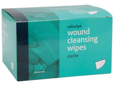 SEALED 100 WOUND CLEANSING WIPES, PARAMEDIC, FIRST AID, NURSE,AMBULANCE, EMT