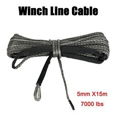 316 X 50 Synthetic Winch Rope Line Cable 7000lb Capacity Atvutv Gray