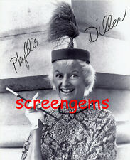 Phyllis Diller signed photo 1950s comedienne standup legend cigarette RARE chic
