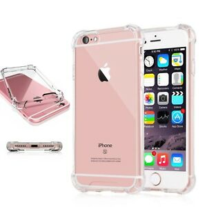 Case for iPhone 7 Plus Shockproof Hybrid Clear Silicone Bumper Gel TPU Cover