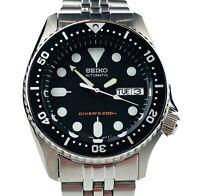 Seiko SKX013K2  Divers Black Dial Stainless Steel Mens Watch SKX013K SKX013 £369