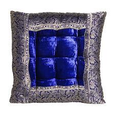 Orientalisches Sitzkissen Stuhlkissen Meditationskissen Bodenkissen Blau Mar55