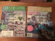 2 Country Living Magazines April 2009 Decorating Antiques Cooking Crafts Garden