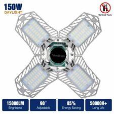 15000Lm Led Garage Light E27 150W Bulb Deformable Ceiling Fixture Lamp Workshop
