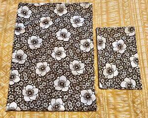 Vintage M&S St Michael Brown Floral Single Duvet & Pillowcase Set 1970s Camper