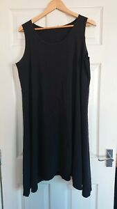 "Boris Industries Dutch Design Black Dress XXL Bust 42"" 14 16 18 VGC"