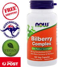 Now Foods, Bilberry Complex 100 Vegan Capsules - With Beta-Carotene & Riboflavin