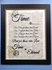 Time Is ....... Henry Van Dyke gift Idea Antique Dictionary Page Art #01