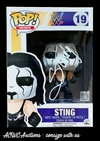 Funko POP! - WWE - Sting (vaulted) - Signed by Sting - Beckett Certified
