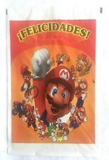 Super Mario Felicidades Birthday Bags Party Favors Goodie Bags Candy Bags 25 pcs