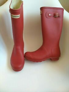 hunter women's wellies size 5 red authentic 100%