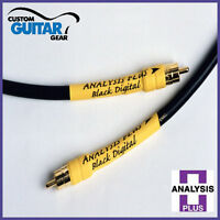 Analysis Plus Black Digital Cable, Length 0.5 Meter, RCA-RCA