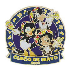 New Disney Parks Mickey Mouse, Goofy & Donald Duck Cinco de Mayo 2016 LE Pin