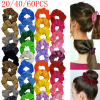60 Pack Elastic Hair Scrunchies Velvet Hair Band Hair Ties Bunt Ponytail Holder
