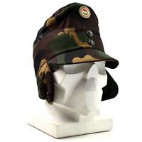 Genuine Hungarian camo army winter cap military field hat with color badge NEW