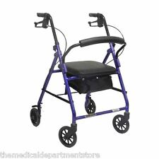 "Probasic 4 Four Wheel Rollator Walker with Padded Seat - Fits users 5'5"" - 6'3"""