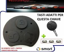 TASTI TELECOMANDO COVER CHIAVE SMART FORTWO 450 FORFOUR CITY COUPE + 3 SWITCH °