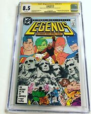 CGC 8.5 SS Legends #3 signed by Ostrander & Wein 1st new Suicide Squad JLA