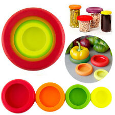 4Pieces/set Flexible Silicone Fruit Vegetable Food Huggers Storage Cover Storage