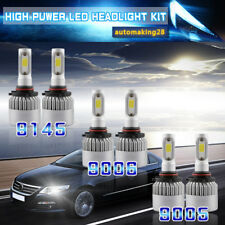 3Set LED Headlight High Low+Fog Combo Kit For Chevy Silverado 1500 2500 HD 00-06