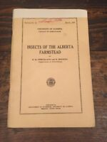 Vtg 1950 Insects Of The Alberta Farmstead Pamphlet Canada Farming University AB