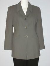 BRAEMAR PETITES Jeremy Scott Size 8 Green 100% Pure Wool Blazer (Made in Canada)