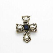 Hot Vintage Jewelry Crystal Brooch Pin Women Lady Cross Wedding Bridal Breastpin