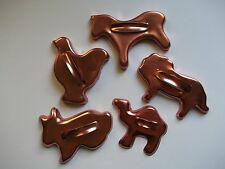 Lot VTG Metal Aluminum Animal Cookie Cutters Rooster Horse Camel Bunny Lion