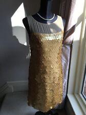 Impresionante LK Bennett con Lentejuelas de Noche Cóctel Fiesta vestido tamaño de Reino Unido 10 20s Aleta